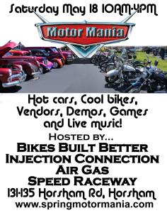 2013 Spring Motor Mania Flyer